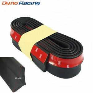 New Rubber Soft Black bumper Strip Car 60mm Width 2.5m length Exterior Front Bumper Lip Kit / Car bumper Strip