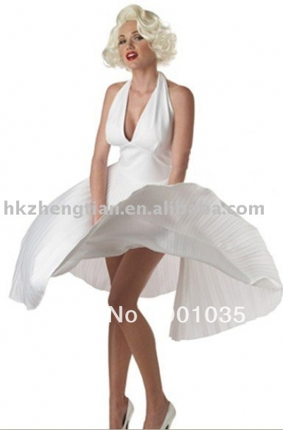 FREE SHIPPING S-XL 8547 women fun celebrity Marilyn Monroe costume dress party costume fancy dress costume