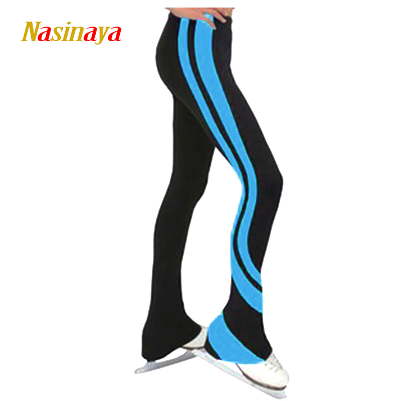 Customized Figure Skating pants long trousers for Girl Women Training Competition Patinaje Ice Skating Warm Fleece