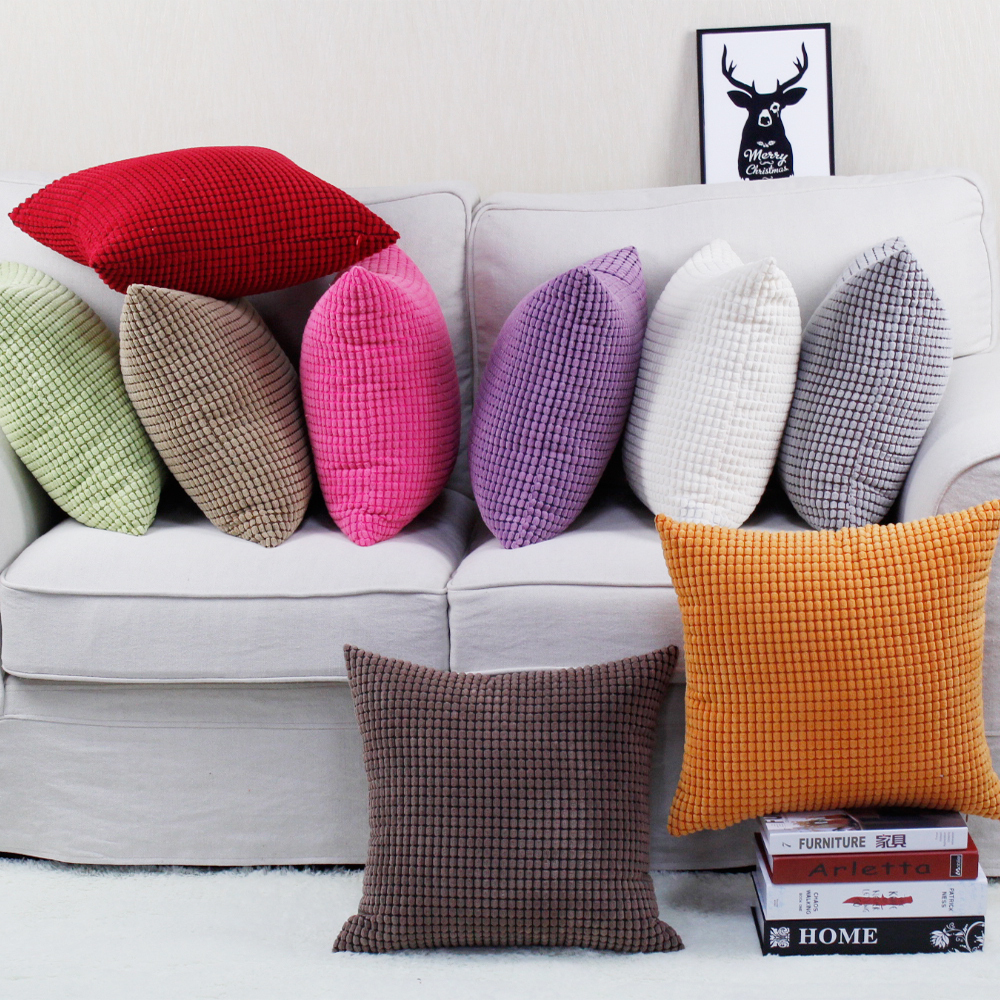 Sofa cushion cover 30x45/40x40/45x45/40x60/<font><b>50x50</b></font>/55x55/60x60cm decorative throw <font><b>pillowcase</b></font> home pillow cover image