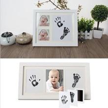 Baby Paw Print Pad Foot Print Photo Frame Pad Non-Toxic Inkless Wipe DIY Handprint Footprint Keepsake Kit Newborn Ink Pad Toys