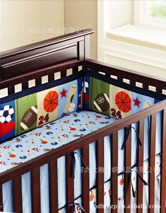 Printing Embroidery Basketball Football Baseball Pattern Baby Crib Bedding Set Include Cot Per Sheet Skirt Mattress Cover In Sets From Mother
