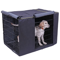 Dog Kennel Cover Waterproof Oxford Durable Dog Cage Cover Foldable Outdoor Washable Pet Kennel Crate Cover kennel Accessories