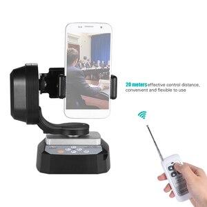 Image 4 - ZIFON YT 500 Uzaktan Kumanda Pan Tilt Otomatik Motorlu Döner Video Tripod Kafası Sabitleyici Smartphone Tripod Kafaları