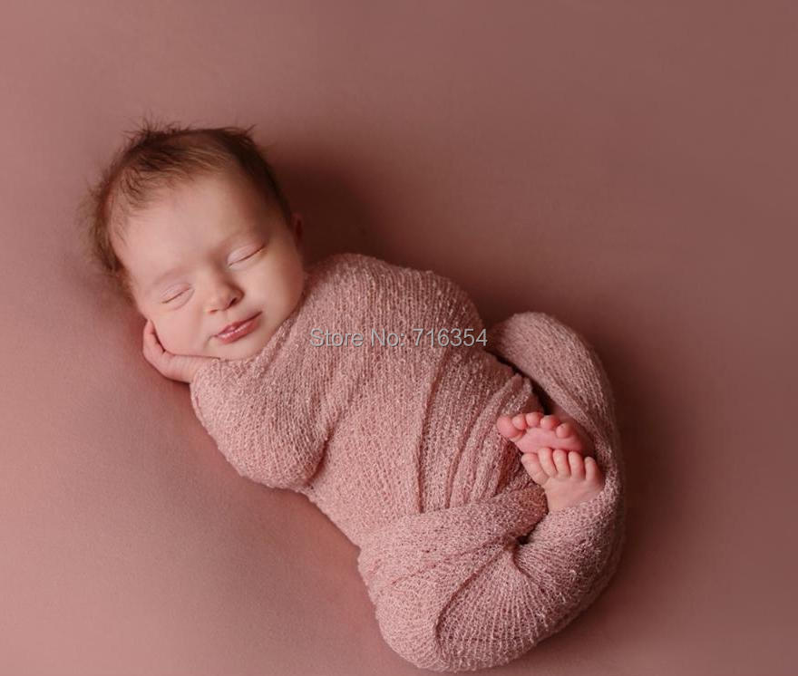 5pieces lot stretch knit rayon wrap newborn baby photography props stretch wrap 40cm x 150cm