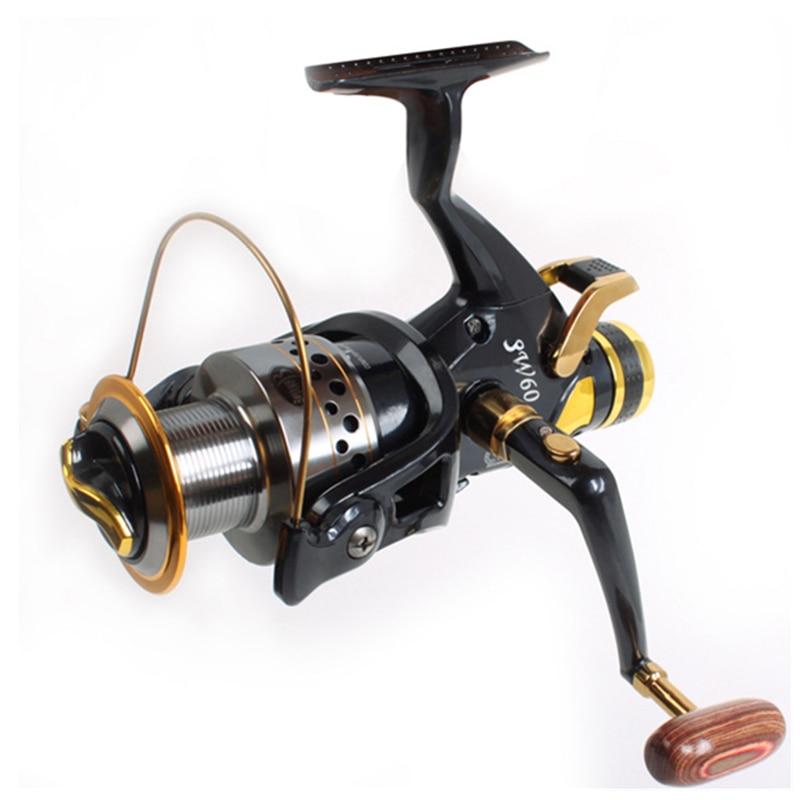 Fishing Reel Double Brake Carp Fishing Feeder 9BB Spinning Reel 5.2:1 Quality Fishing Reel Bait runner reel Free runner