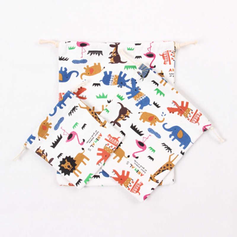3 шт./компл. тряпичная Сумочка Сумки для покупок на шнурках Анималистическая печать детская любовь конфеты подарочные сумки сумочка унисекс Cluch