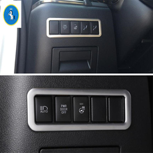 Yimaautotrims Auto Accessory Head Lights Lamp Switch Button Frame Cover Trim Fit For Toyota Alphard / Vellfire AH30 2016 - 2019 yimaautotrims auto accessory rear door stereo speaker audio sound cover trim fit for toyota alphard vellfire ah30 2016 2019