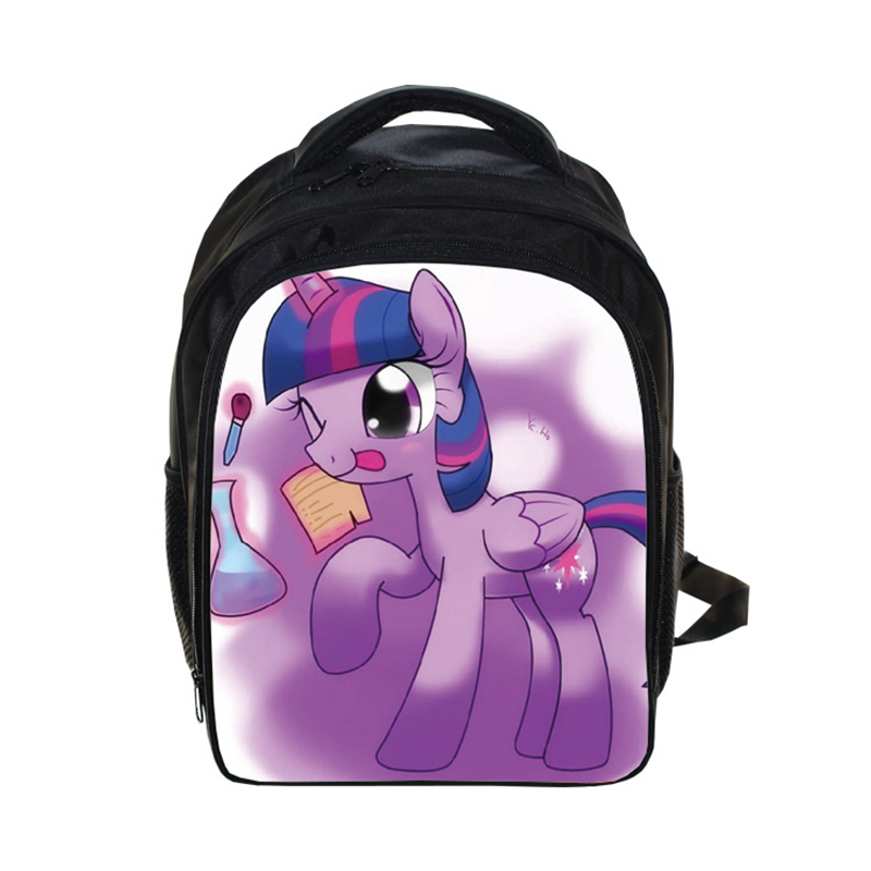 My Little Pony Baby Girls Backpack Gorjuss Cartoon Horse Unisex Daily Backpacks Children Kindergarten Gift Bag