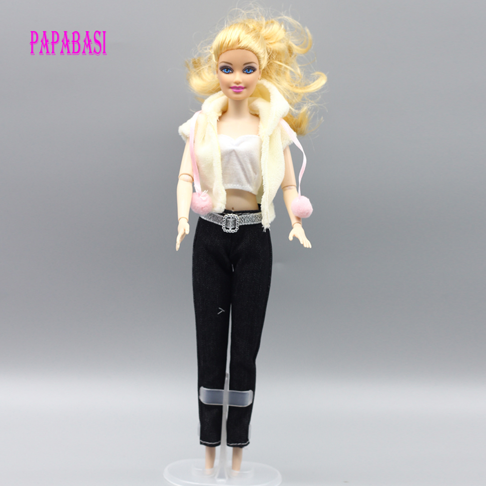 1set Coat+vest+trousers For Barbie Doll Clothes Trousers lifestyle Suit windbreaker 30 new styles festival gifts top trousers lifestyle suit casual clothes trousers for barbie doll 1 6 bbi00636