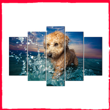 Modular Pictures Wall Art HD Prints 5 Pieces Animal Canvas Painting For Living Room Frame Home Decoration Artwork Poster Abooly