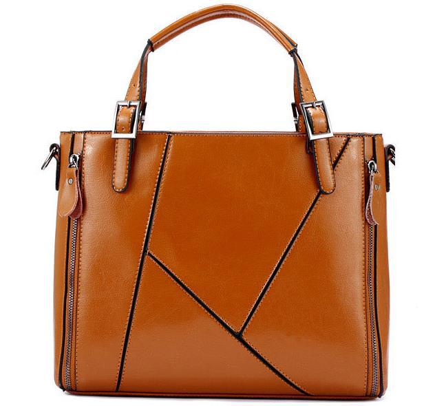 2015 new style women genuine leather shoulder bag fashion women handbag patchwork tote women messenger bag cowhide crossbody bag 2015 new fashion tote genuine leather handbag western style crossbody bag multi purpose shoulder bag hot women messenger bags