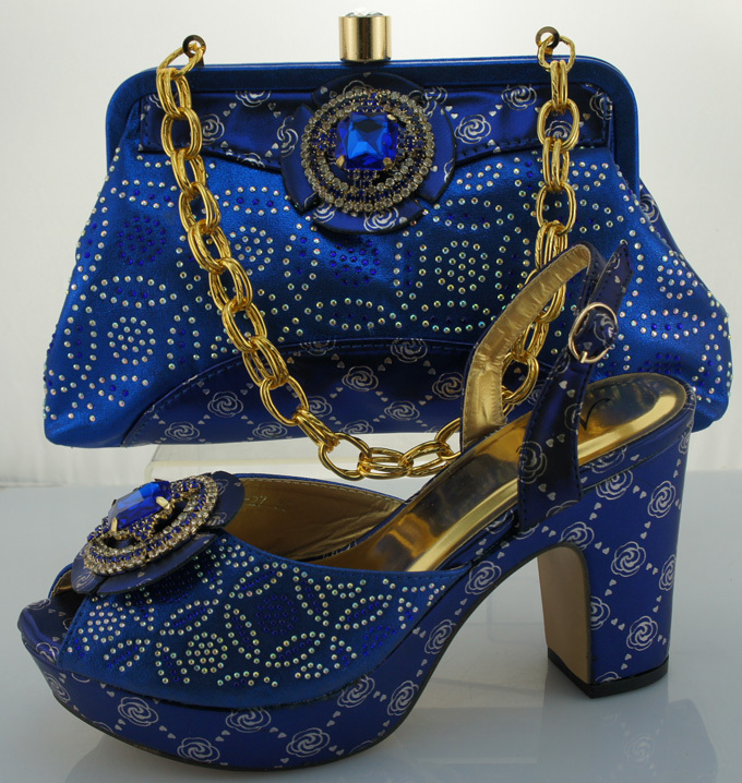 ФОТО Free shipping,Hot sale Item!!!!2016 New arrival Lady fashion african shoes and matching bags ME0020 Royal Blue color size 40-42.