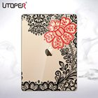 UTOPER Fashion Flower Case For Apple iPad Air Case Transparent Cover For Apple New iPad 5 Coque For iPad Air 1st Case For iPad 5
