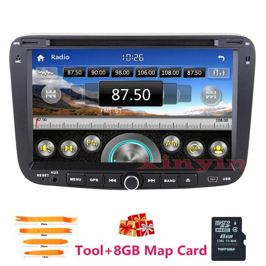 imágenes para 2 din radio Del Coche de audio dvd para GEELY Emgrand EC7 2012 2013 2014 de Navegación GPS IPOD bluetooth TV precisa menú Ruso + tarjeta del mapa