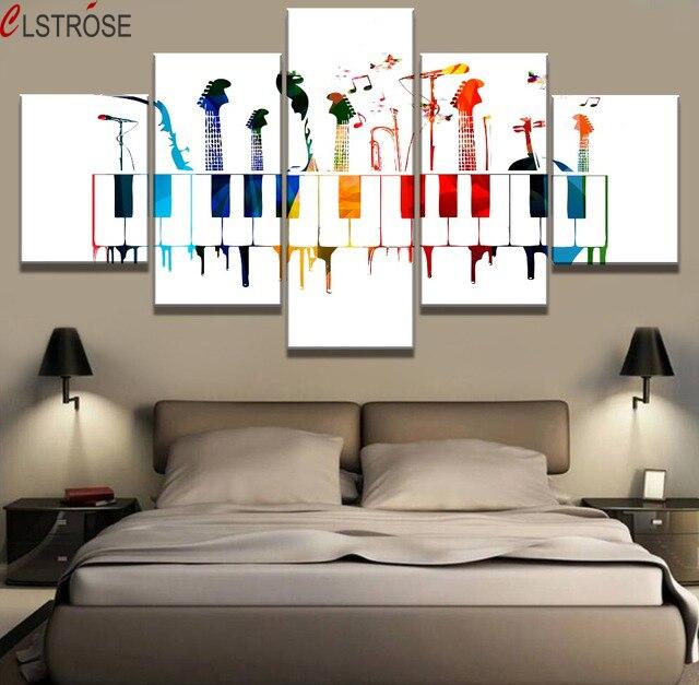 Clstrose 5 Sztuka Hd Drukuj Duża Instrumenty Muzyczne Plakat