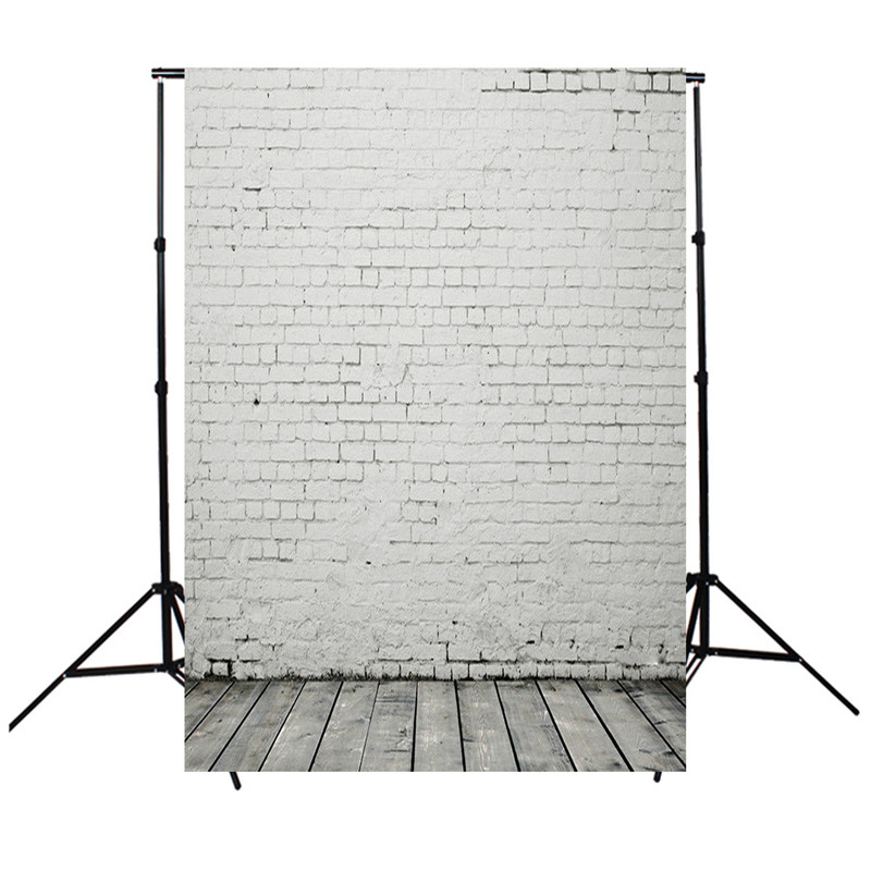 3x5ft Brick Wall Floor Photography Background For Studio Photo Props Vinyl Photographic Backdrops 90cmx150cm cloth wooden floor and brick wall photography backdrops computer printing thin vinyl background for photo studio s 1120
