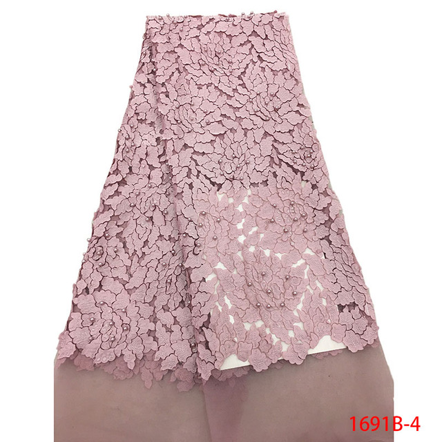 49baa3c9980a73 ... Franse Netto Kralen Kant Stof Voor Bruiloft Borduren Afrikaanse 1691B  4. Onion Latest Nigerian Tulle Lace 2019 French Net Beaded Lace Fabric For  ...