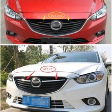 2pcs Chrome Front Grille Grill Frame Cover Trim For Mazda 6 Atenza M6 Sedan 2013 2014 car front grille trim auto grille decoration cover for mazda 6 atenza 2014 2015 abs chrome