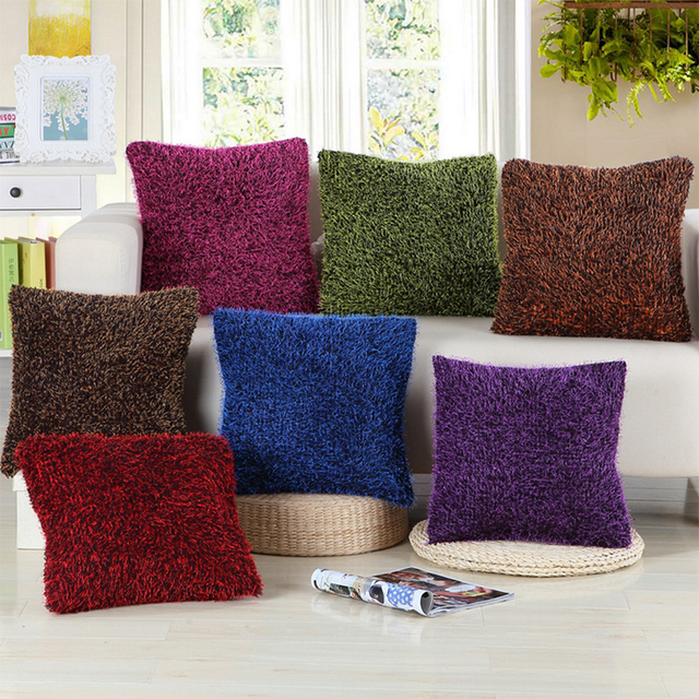 45x45cm No Filling Fluffy Plush Coussins Blending Throw Pillows Sofa Car  Pillow Seat Cushion For Home