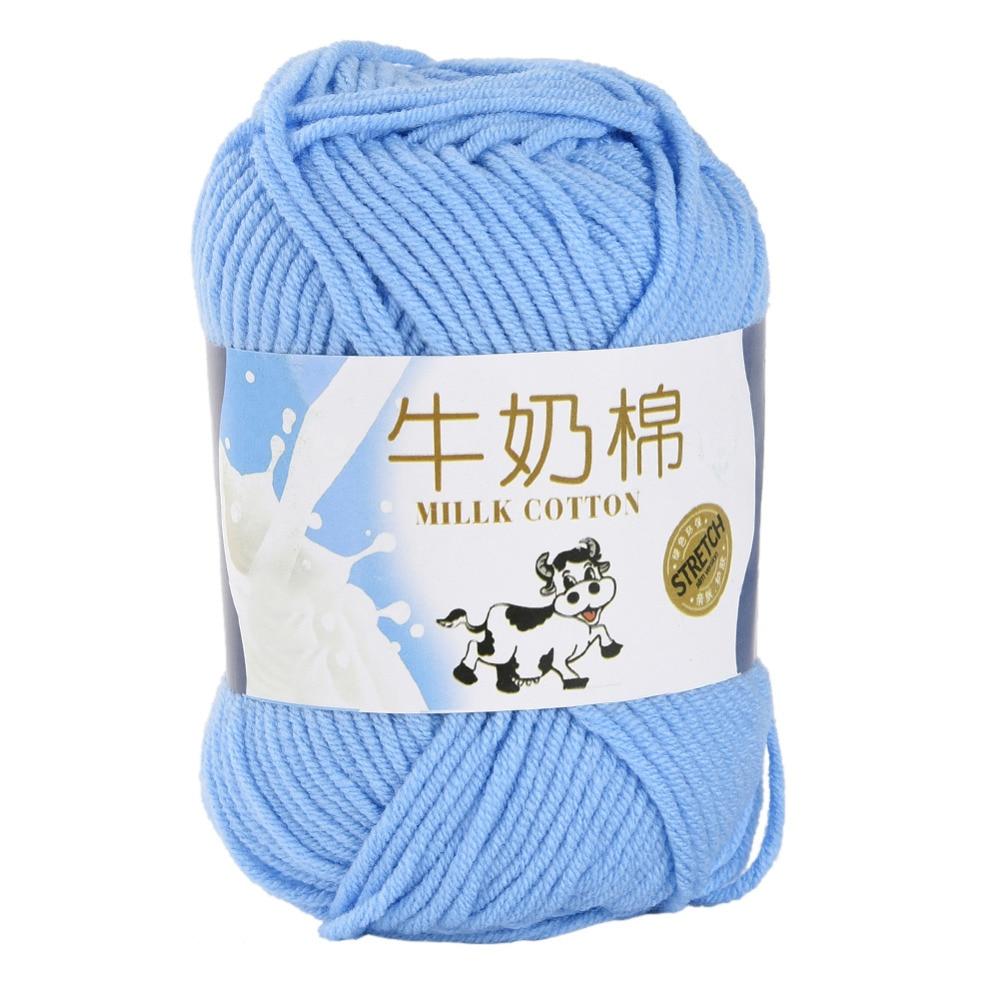 ▽Alta calidad 10 unids leche algodón tejido a mano Hilado colorido ...