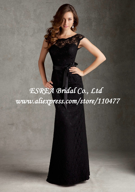 Us 138 7 Low Back Sexy Designer Mermaid Lace Bridesmaid Dress 2015 Long Black Bridesmaid Dresses For Wedding Guest Mg766 With Sashes In Bridesmaid