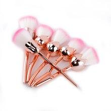 Hot Sale 6Pcs/Set Gold Rose Shaped Makeup Brushes Foundation Powder Make Up Brushes  Blush Brush Set Pincel Maquiagem