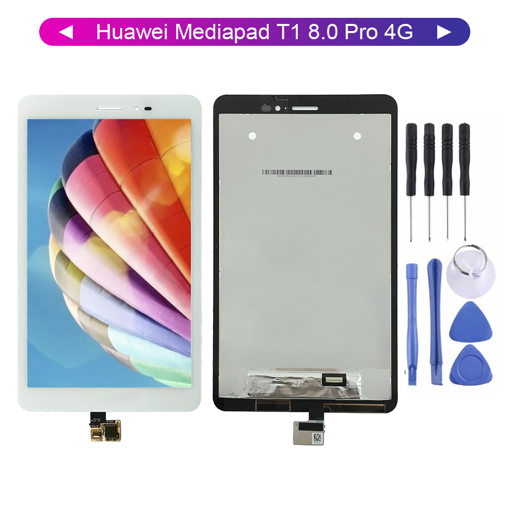 Tested For Huawei Mediapad T1 8.0 Pro 4G T1-823L T1-821L T1-821W T1-821 LCD Display Touch Screen Digitizer Assembly +Free Tools