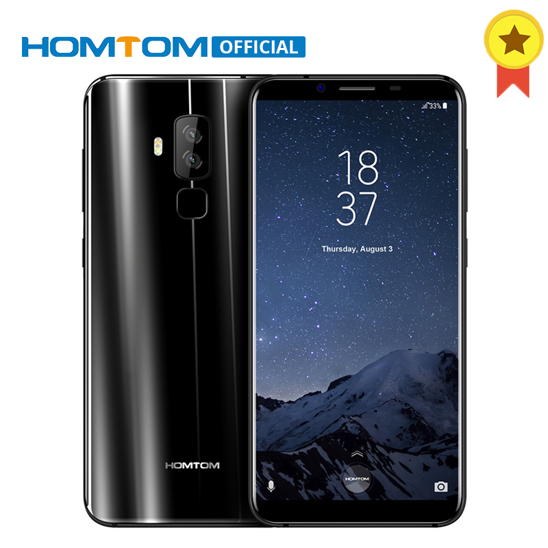 HOMTOM S8 5.7 HD+ 18:9 Aspect Ratio Mobile Phone MTK6750T Octa Core 4G RAM 64G ROM 3400mAh 16MP+5MP Fingerprint Smartphone