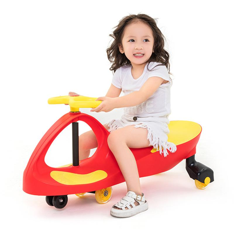 BOHS Baby Twist Car Swing Wiggle Ride on Car, with Mute Wheel infant shining swing car mute flash belting leather music environmental quality children s toy car
