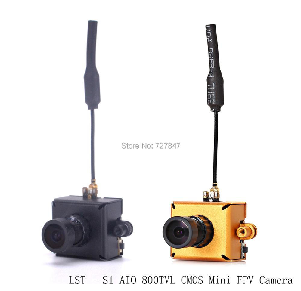 NEW LST - S1 AIO 800TVL CMOS Mini FPV Camera RC Toy Parts with 5.8G 40CH 25mW VTX 3dBi Whip Antenna for Accessories Quadcopter original emax babyhawk spare part 5 8g 40ch 800tvl 25 200mw switchable vtx aio 520tvl cmos fpv mini camera for rc models