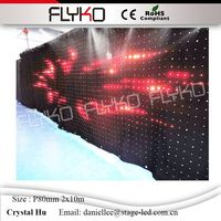2M*10M Led Effect Light P80 Led Party Decoration DMX Stage Lighting Led Video Curtain For DJ Booth