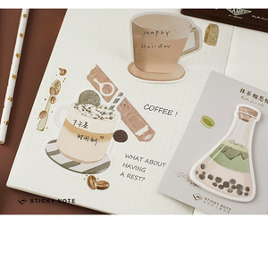 Image 4 - 32 pcs/Lot drink sticky notes Icecream Coffee Fruit memo pad Diary stickers Stationery Office decoration School supplies A6134