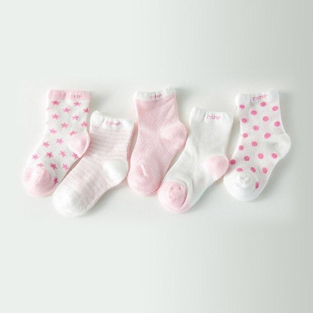 5 par/lote 100% algodón bebé Calcetines recién nacidos Candy hombre ...