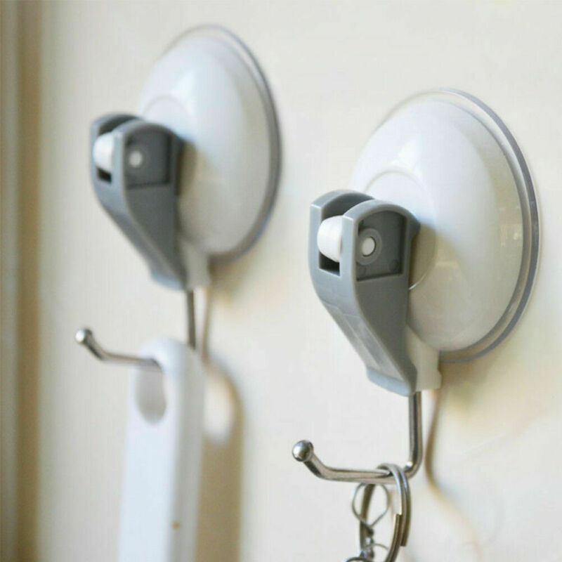 New Vacuum Strong Suction Cups Window Glass Wall Hooks Bathroom Kitchen Strong Towel Hanger Suckers