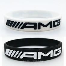 1 шт. AMG Мужской Женский M силовой браслет для Mercedes Benz Клубные вентиляторы светящийся силиконовый браслет на запястье резиновый браслет аксессуары