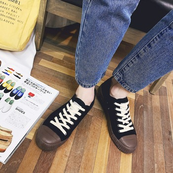 2018 Canvas Vulcanize Shoes  Mens  Black Retro  Casual Shoes  Classic  Mans footwear  Sneakers for men
