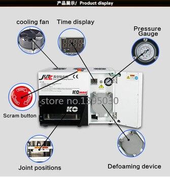 Lo más nuevo con la máquina de eliminación de burbujas para pantallas de 7 pulgadas LY898 laminadora automática de OCA lcd máquina de laminación al vacío