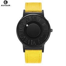 EUTOUR Quartz Watches Strap Ball-Show Canvas Magnetic Clock Male Fashion Man
