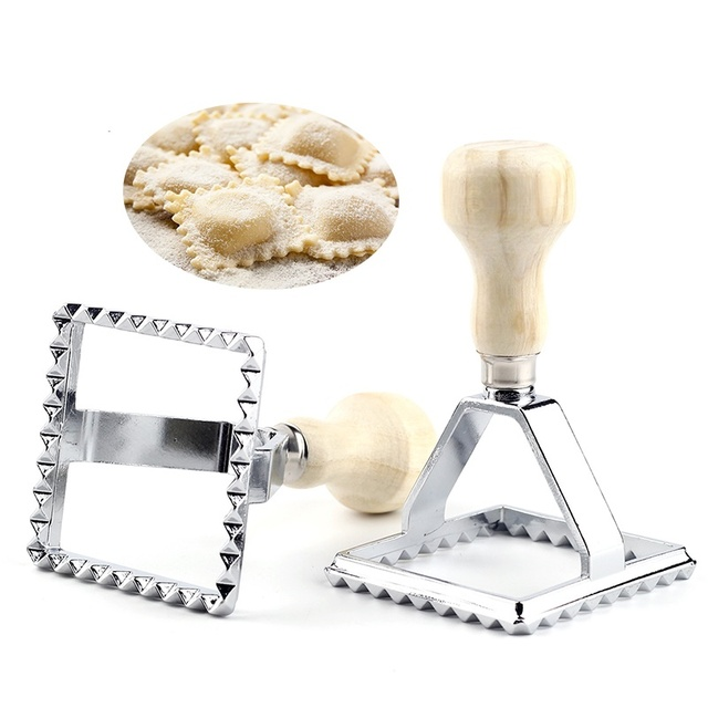28 Square Ravioli Stamp Pasta Cutter Pastry Mold Press Maker