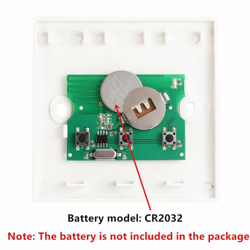 QIACHIP 433 Mhz sans fil RF télécommande commutateur ca 110V 220V lampe lumière LED commutateur couloir chambre maison 433 Mhz mur panneau commutateur