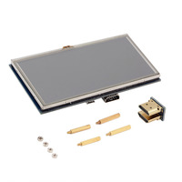 5 Inch 800x480 Touch LCD Screen 5 Display For Raspberry Pi Pi2 Model B A Hot