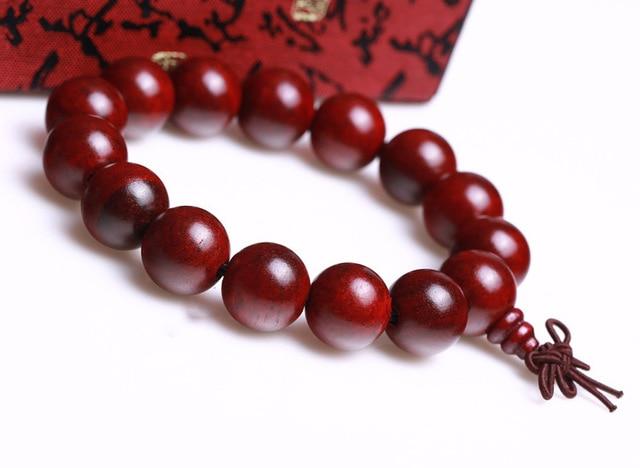 Vintage Jewelry Authentic Rosewood Ebony Beads Bracelet Vietnam Wood Bracelets 12 25mm Laos