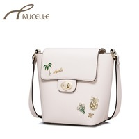 NUCELLE Women PU Leather Messenger Bag Ladies Brief Summer Holiday Shoulder Bags Female Casual All Match