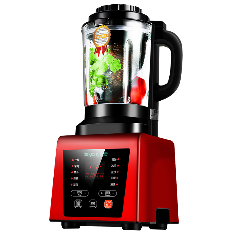 Broken Machine Heating Fully Automatic Cuisine Free Filter Soy Milk Baby Food Supplement Blender Reservation Touch Screen