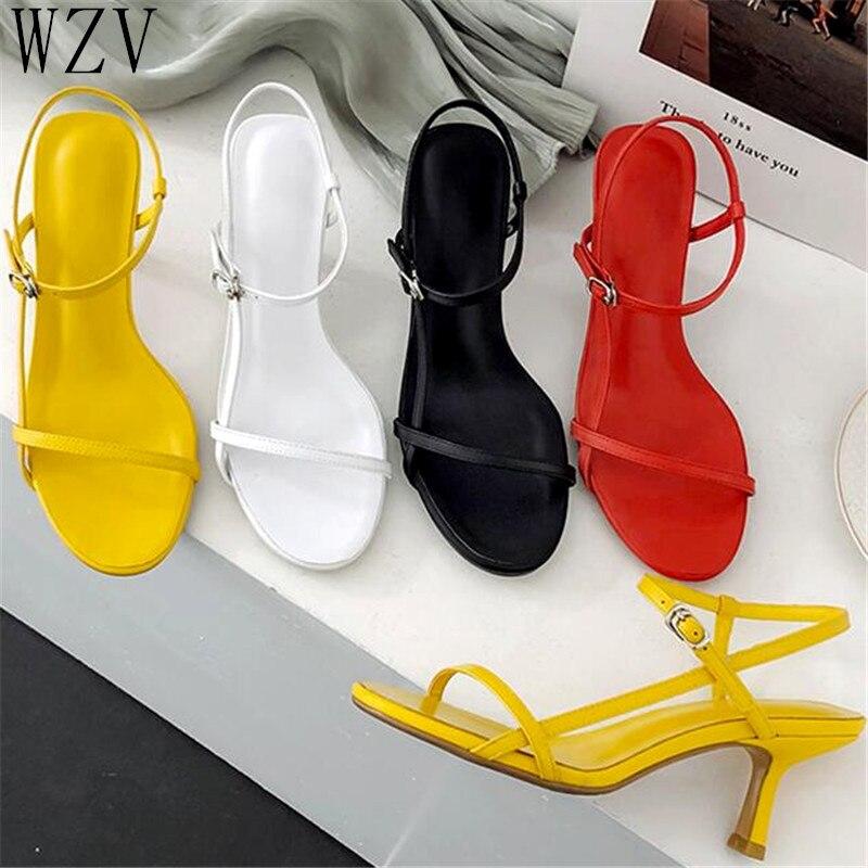 Dress Sandals Stiletto-Heels Ankle-Strap Shoes Women Open-Toe Party E938