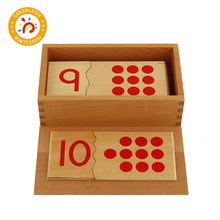 Baby Toy Montessori Material Number Puzzle 1-10 Learn Math Learning Digits Early Education wooden tray montessori learning math puzzle number montessori learning games education clock arithmetic counting toys baby math