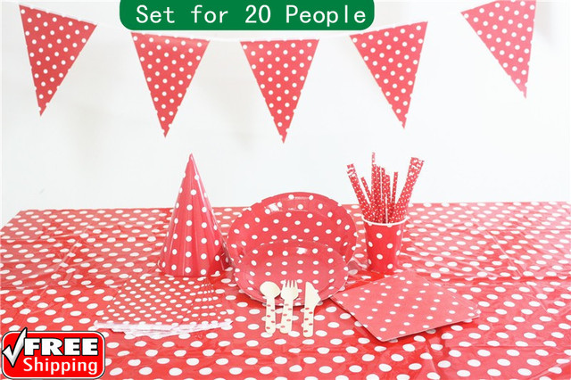 219 pieces/lot Red Dot Christmas Party Tableware Set Bulk-Paper StrawsBags  sc 1 st  AliExpress.com & 219 pieces/lot Red Dot Christmas Party Tableware Set Bulk Paper ...