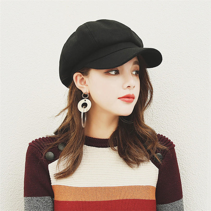 5c7962b00 Beret Female Wild Chic Hat Female Autumn and Winter Caps Ins Version ...