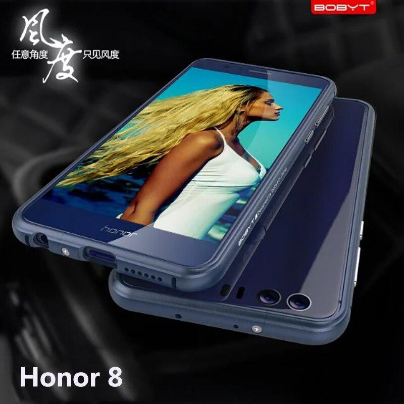 imágenes para Para Huawei Honor 8 Caso Original BOBYT Honor8 de Lujo de Parachoques del Metal Para Huawei Caso de Aluminio De La Aviación